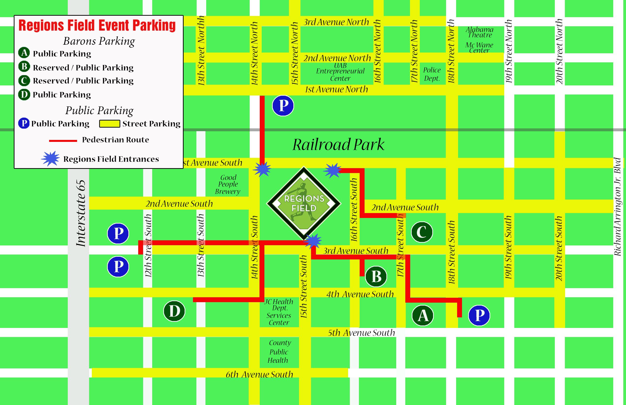 barons' regions field  parking map - httpwwwmilbcomassetsimagesparkingmapqzzuswv