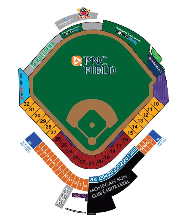 PNC Field Seating Chart ScrantonWilkesBarre RailRiders Visit - Pnc park map seating