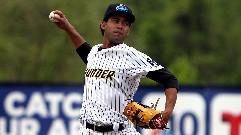 Garcia, Thunder strike often in no-hitter
