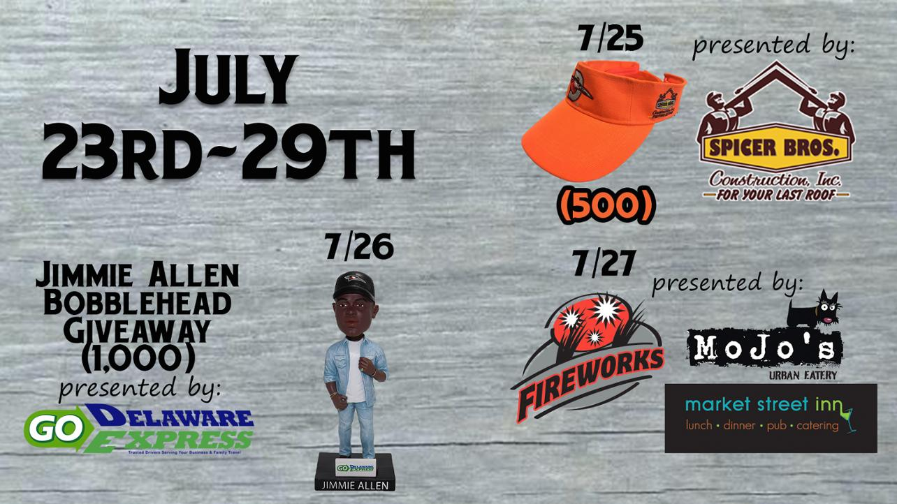 Next Homestand July 23-29