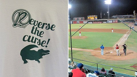 """Reverse the Curse"" T-shirts and ""Gator Chomp"" rally cries now permeate Rawhide Ballpark."
