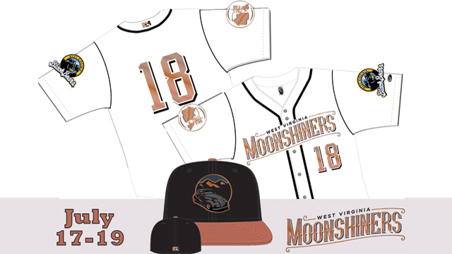 cf9a8fbee73 West Virginia Black Bears Unveil West Virginia Moonshiners Jersey and Cap.  Jersey and Cap to honor the transportation and making of moonshine