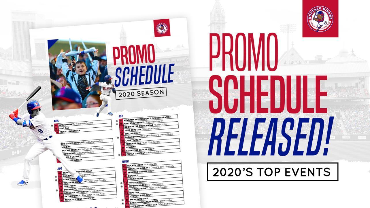 Promo Schedule