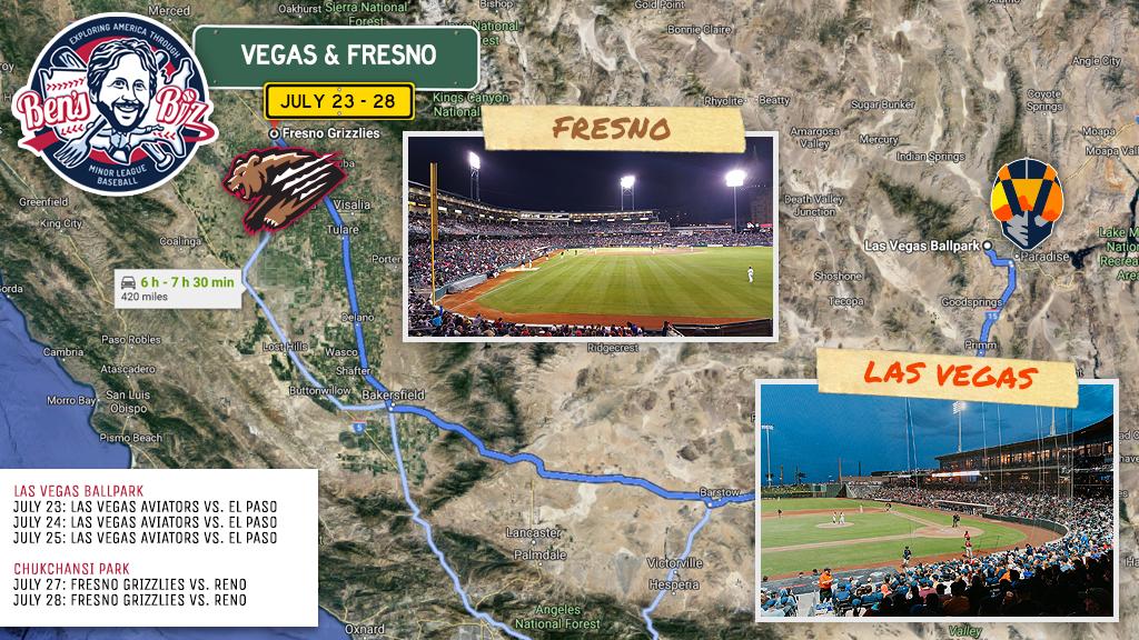 On the Road: Las Vegas and Fresno