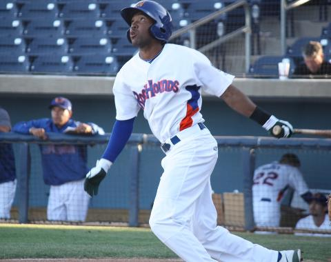 D'Arby Myers was 5-for-5 in Friday's 10-1 win over San Antonio