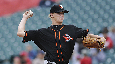 Parker Bridwell went 5-9 with a 5.98 ERA in Delmarva last season.