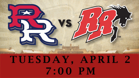 The RoughRiders & Express will meet for an exhibition game on April 2.