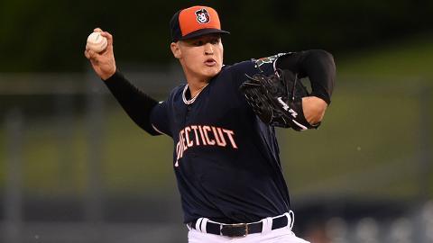 Matt Manning recorded 46 strikeouts over 28 1/3 innings in the Gulf Coast League last season.