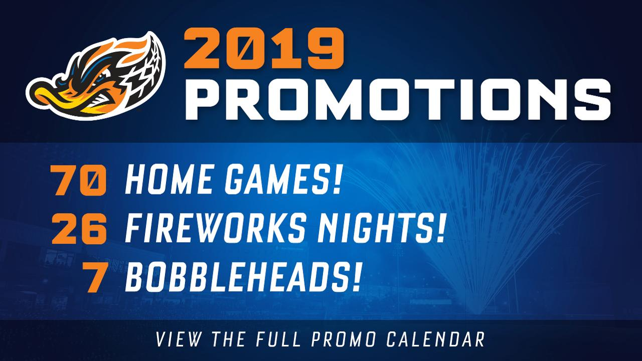 Akron Rubber Ducks Schedule 2019 Ducks 2019 Promo Calendar Packed with 70 games of affordable