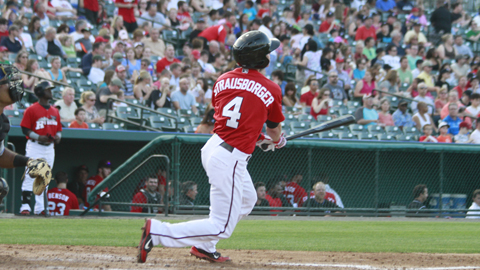 Ryan Strausborger collected two hits, scored a run, and drove in three in the big 'Riders ninth inning.