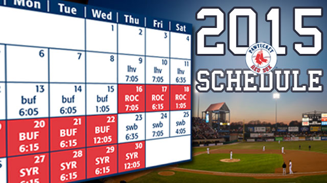 image about Printable Red Wings Schedule called Pawtucket Pink Sox Announce 2015 Agenda Pawtucket Crimson Sox