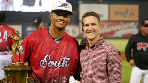 Winston-Salem's Joel Booker drove in four runs out of the leadoff spot for the victorious Southern Division.