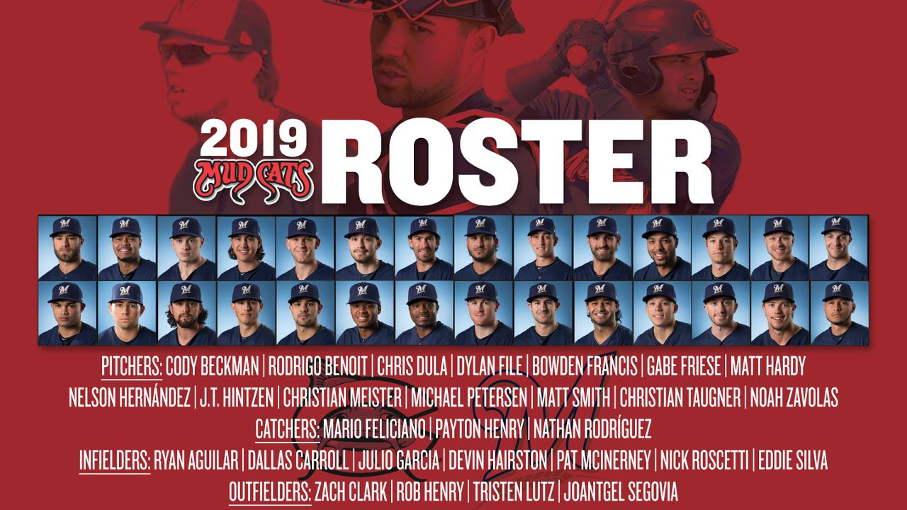 Brewers Announce Initial 2019 Carolina Mudcats Roster