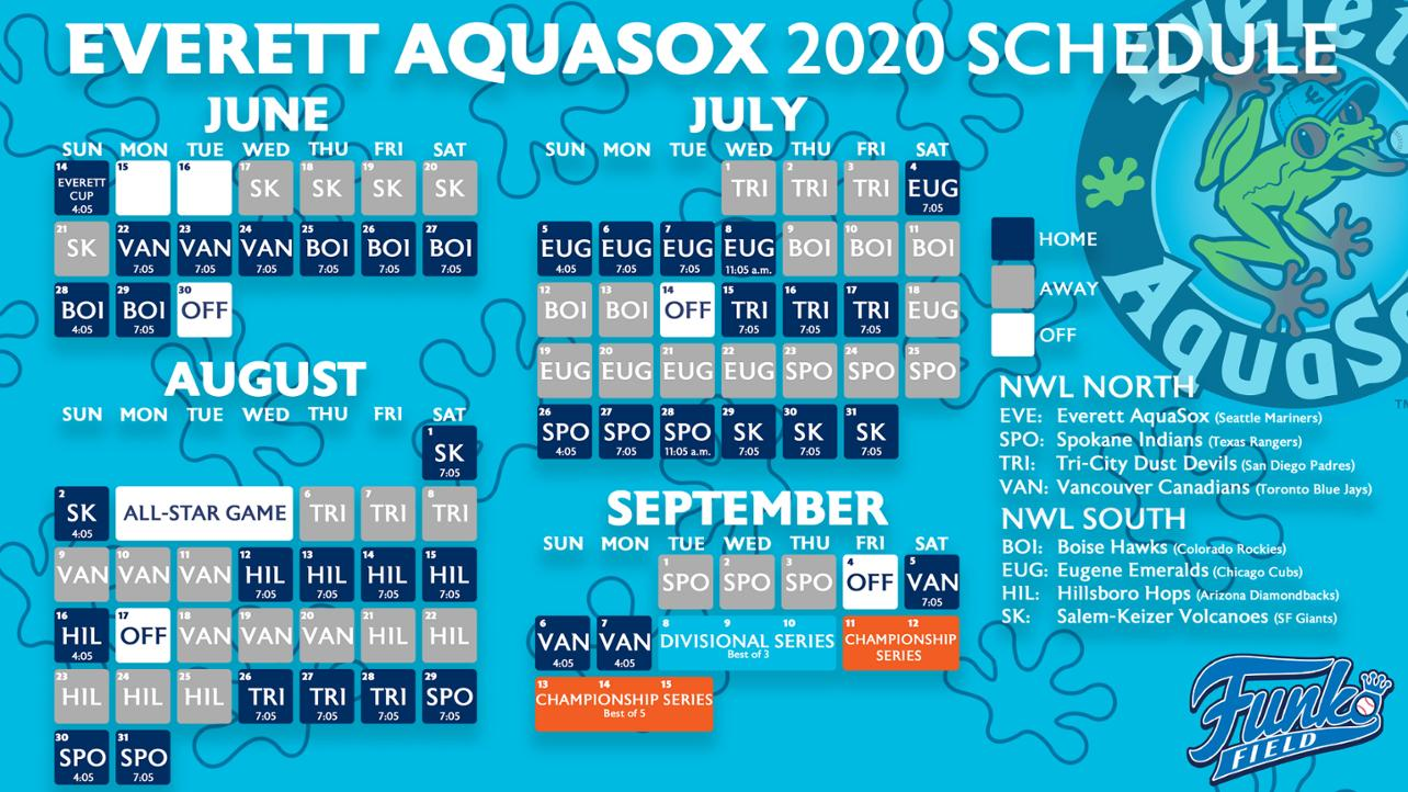 Everett Adds Game Times to 2020 Schedule