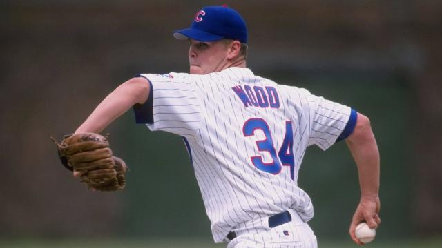 b068d687e Righty Kerry Wood spent his best Minor League season in Florida with the  Daytona Cubs in 1996. (Harry How Getty Images)