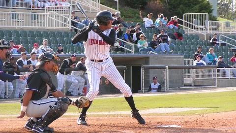 Jose Martinez played for the Intimidators in 2008, batting .306 in 39 games in the South Atlantic League.