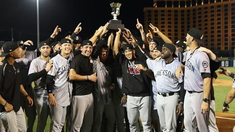 Jackson celebrates its first Southern League championship as a D-backs affiliate.