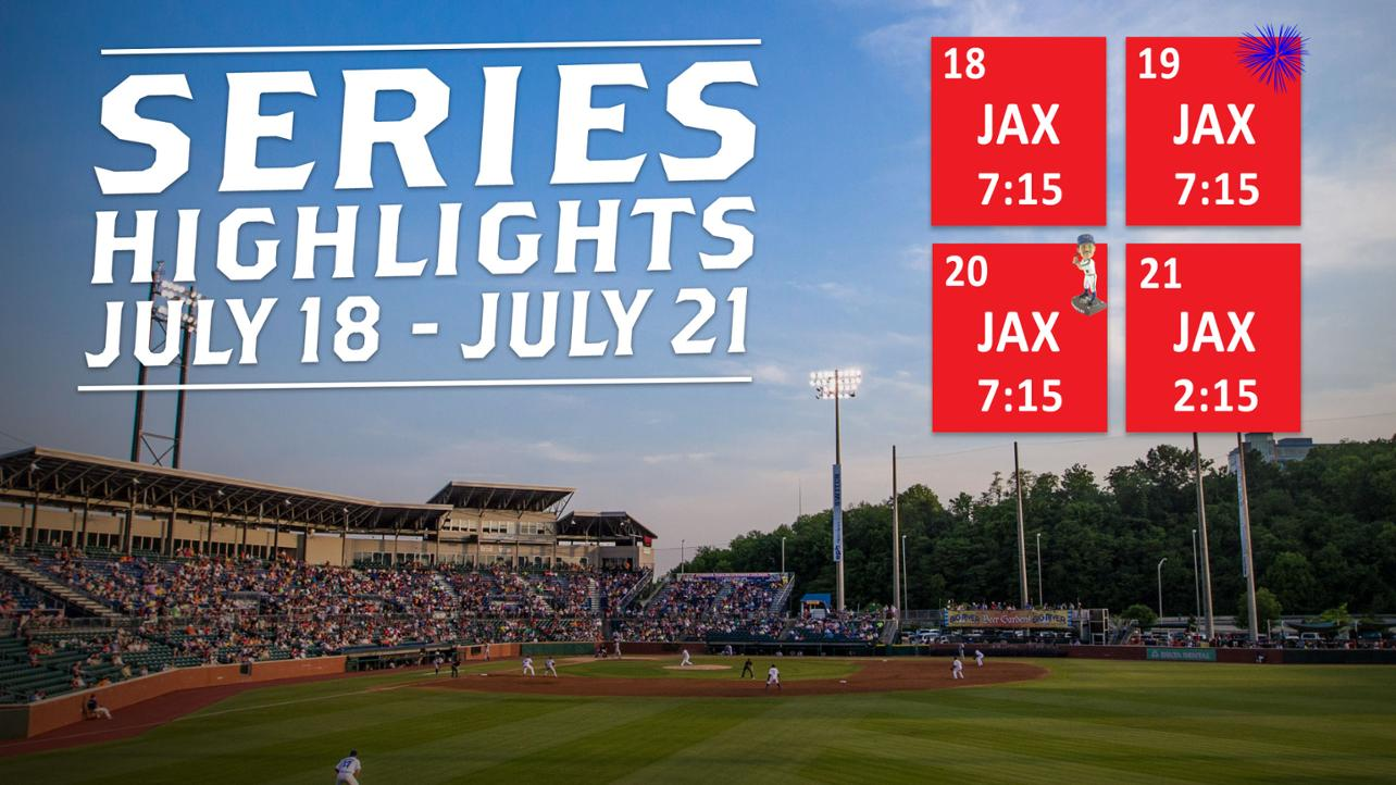 Lookouts vs. Jumbo Shrimp   July 18th to July 21st