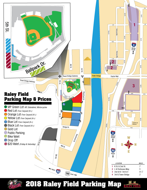 Directions Parking Sacramento River Cats Raley Field Info