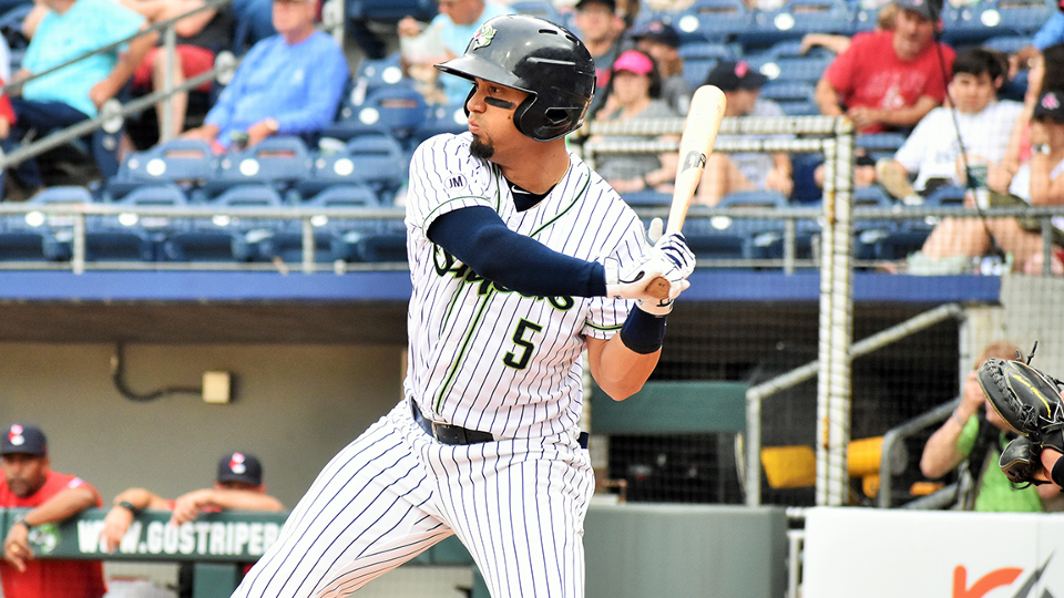 00f9982593caa Ortega homered twice in the Stripers fifth straight win. (Josh Conner Gwinnett  Stripers)
