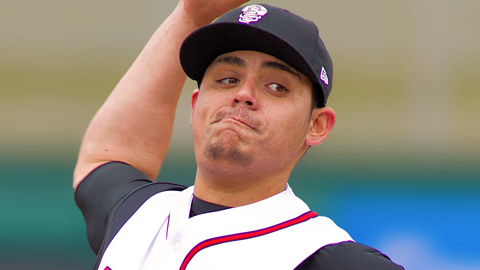 Roberto Osuna is 1-1 with a 2.95 ERA for Lansing this year.