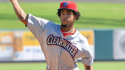 Adonis Medina is 8-3 with a 4.48 ERA this season in the Florida State League.
