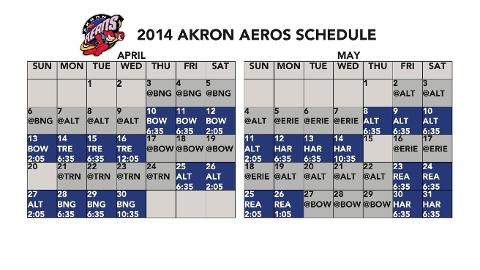 The Aeros open the 2014 season on the road against the Binghamton Mets