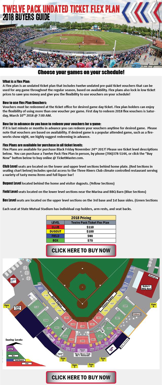 12 pack undated flex plan | rome braves tickets