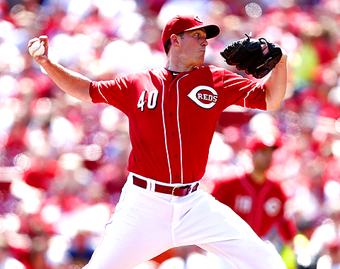 Greg Reynolds pitches against the Milwaukee Brewers during the game at Great American Ball Park on August 25, 2013.