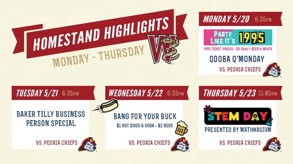 Homestand Highlights | May 20-23
