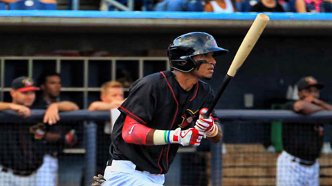 Danry Vasquez went 3-for-5 with a game-tying 2-run home run in his River Bandit debut on Wednesday night.