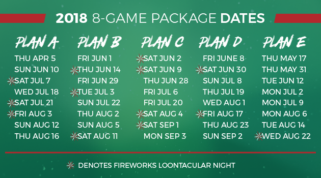 Great Lakes Loons 2018 8 Game Mini Plan