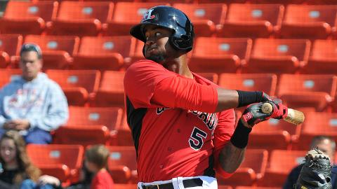 Jordan Akins has six RBIs over his last four games for Hickory.