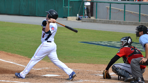 Taylor Davis went 2-for-4 with a pair of doubles and two RBIs in Sunday's win.