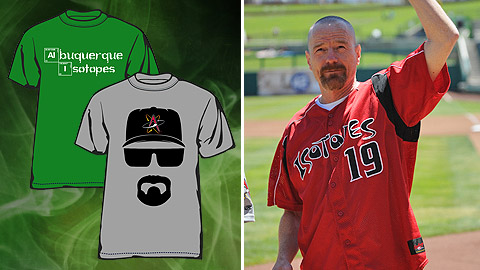 The Isotopes created two shirts that pay tribute to Bryan Cranston's iconic character.