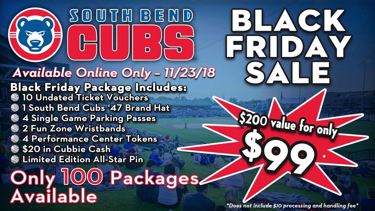 64cfdb5318e5bd In addition to the annual Ticket Package being offered at midnight on  November 23, the Cubs Den Team Store will also offer special Black Friday  discounts ...