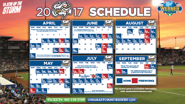 Storm Chasers Unveil 2017 Home Schedule Augusta Greenjackets News