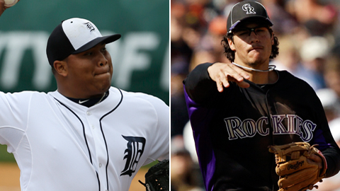 Both Bruce Rondon and Nolan Arenado were optioned to Triple-A on Thursday.