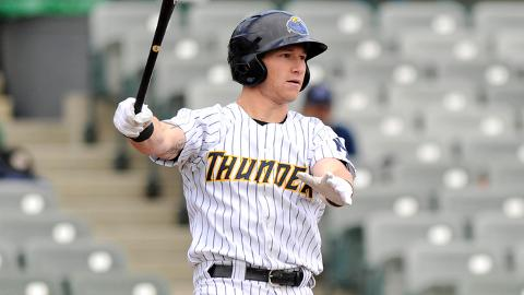 Slade Heathcott had one RBI in nine games before his go-ahead homer.
