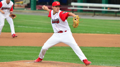 Yacksel Rios has 32 strikeouts in 38 innings this season.