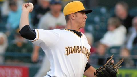 Nick Kingham has a 4.09 ERA after three starts this year for Bradenton.