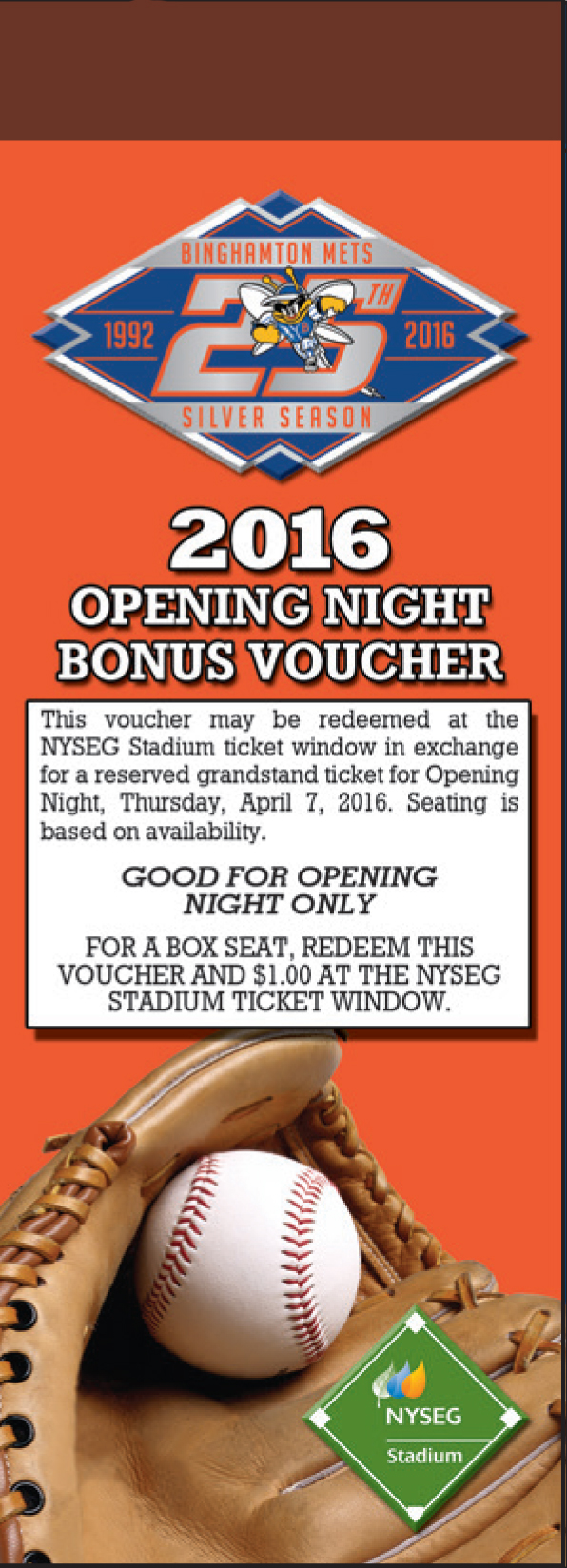2014 Opening Day Bonus Voucher