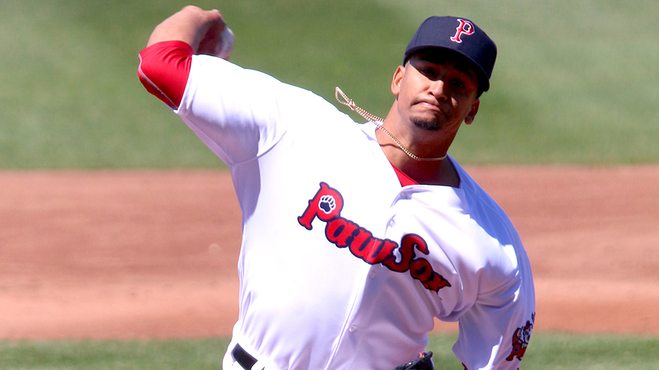 c6582ced9 William Cuevas helped the PawSox turn the third triple play of the Minor  League season. (Pawtucket Red Sox)
