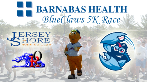 Join us on April 7th for the annual Barnabas Health BlueClaws 5K Race!
