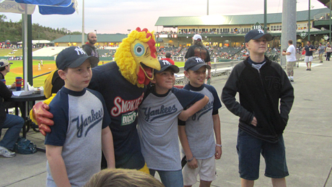 Meet Clucky Jacobsen, every fan's favorite costumed sprinting bird.