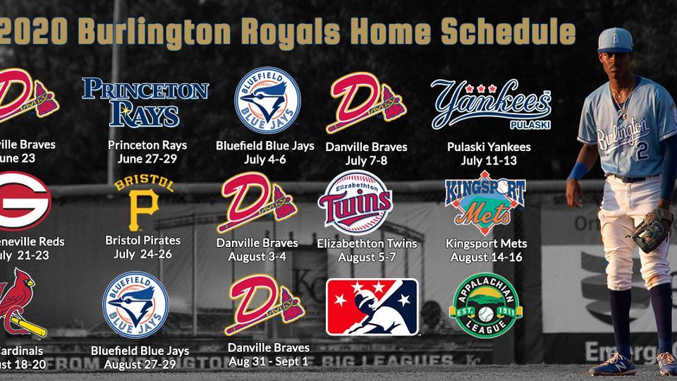 Royals Home Opener 2020.Royals Release 2020 Schedule Burlington Royals News
