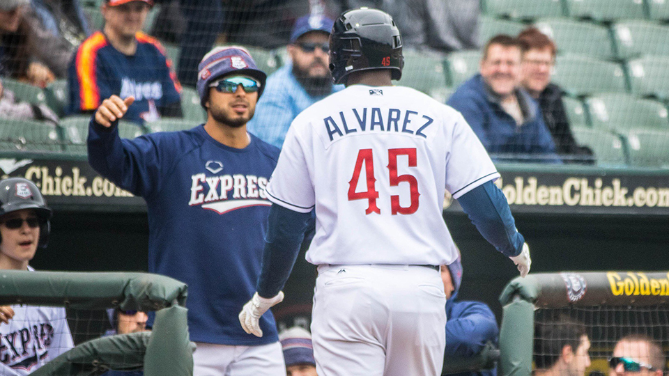 Express Alvarez Breaks Out Power Bat Milbcom News