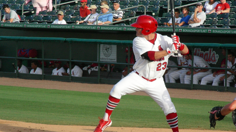 James Ramsey picked up two hits on Thursday night against the Hammerheads.