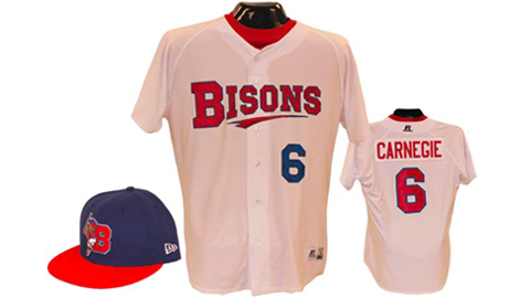 The Bisons' home uniform feature a new logo that pays tribute to the team's past.