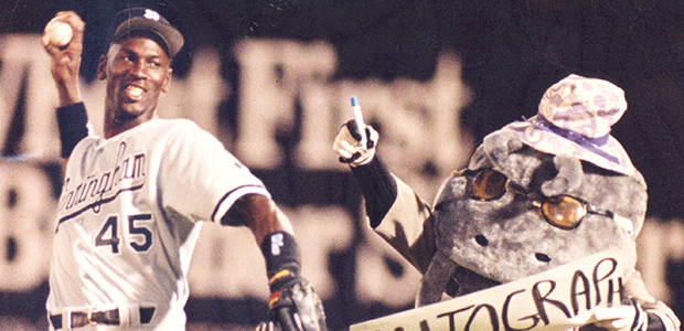 c42f2c2e4bc ... Michael Jordan went 2-for-4 for the Birmingham Barons against the  Mudcats in  In 1994 ...